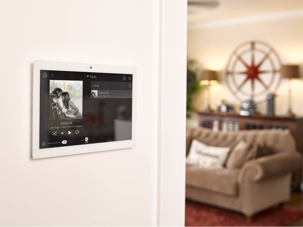 in wall touch oad control multiroom music and lighting