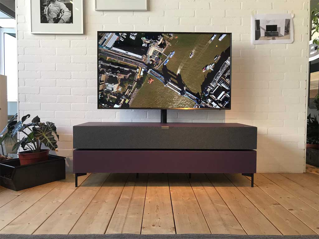 large tv on a spectral stand